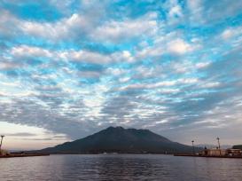Sakurajima taken from Dolphin Port on a good weather