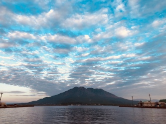 Sakurajima taken from Dolphin Port on a good weather