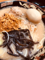 This is one of the must eat recommendation in Kagoshima, a ramen shop hidden behind the alley.