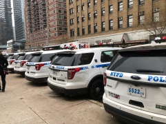 NYPD vehicle line up