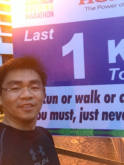 Last km to complete this Marathon
