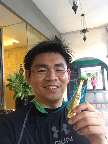 Kuching Marathon had quite an unique finisher medal