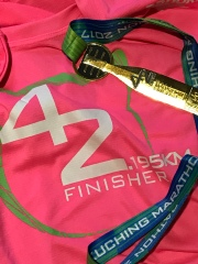 My first PINK finisher t-shirt